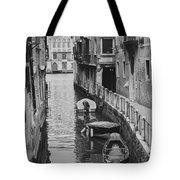 Venice Docked Boats Tote Bag