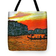Venice Eventide Impasto Tote Bag