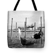 Venice. Gondola. Black And White. Tote Bag