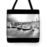Venice Gondolas Silver Tote Bag