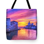 Venice Grand Canal At Sunset Tote Bag
