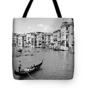 Venice In Black And White Tote Bag