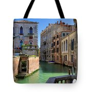 Venice Italy Canal And Lovely Old Houses Tote Bag
