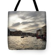 Venice Italy - Pearly Skies On The Grand Canal Tote Bag