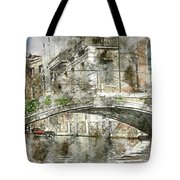 Venice Italy Digital Watercolor On Photograph Tote Bag