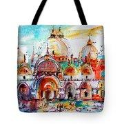 Venice Piazza Saint Marco Basilica Tote Bag by Ginette Callaway