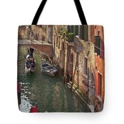 Venice Ride With Gondola Tote Bag