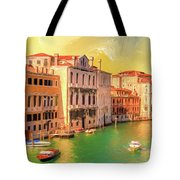 Venice Water Taxis Tote Bag