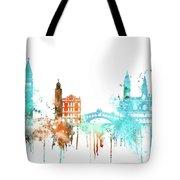 Venice Watercolor Skyline Tote Bag