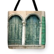 Venice Window Flower Pot Tote Bag