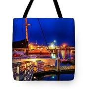 Ventura Harbor At Night Tote Bag