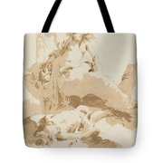 Venus And Cupid Discovering The Body Of Adonis Tote Bag