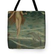 Venus Born Of The Sea Foam  The Birth Of Venus, Detail Tote Bag
