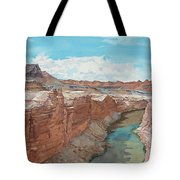 Vermilion Cliffs Standing Guard Over The Colorado Tote Bag