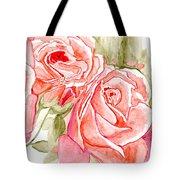 Vermilion Pink Roses Tote Bag