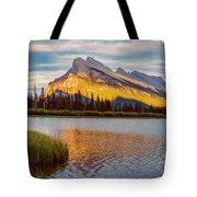 Vermillion Lakes And Mt Rundle II Tote Bag