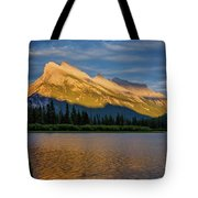 Vermillion Lakes And Mt Rundle Tote Bag