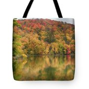 Vermont Fall Foliage Reflected On Pogue Pond Tote Bag