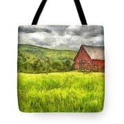 Vermont Farm Landscape Pencil Tote Bag