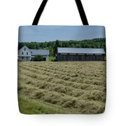 Vermont Farmhouse With Hay Tote Bag