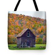 Vermont Garden Shed In Autumn Tote Bag