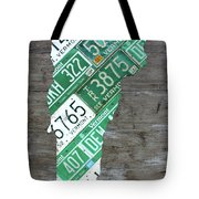 Vermont License Plate Map Art Edition 2017 Tote Bag