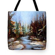 Vermont Stream Tote Bag