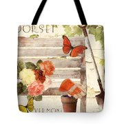 Vermont Summer Park Bench Tote Bag