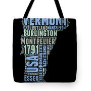 Vermont Word Cloud 1 Tote Bag