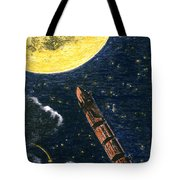 Verne: From Earth To Moon Tote Bag