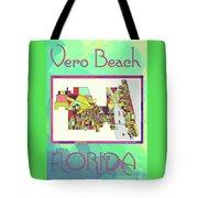 Vero Beach Map4 Tote Bag