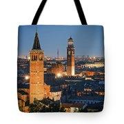 Verona At Night Tote Bag