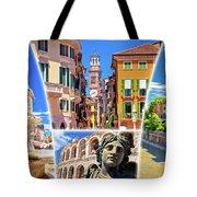 Verona Colorful Tourist Landmarks Postcard  Tote Bag