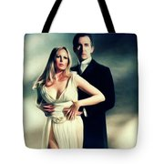Veronica Carlson And Peter Cushing Tote Bag
