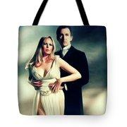 Veronica Carlson And Peter Cushing Tote Bag
