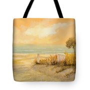 Verso La Spiaggia Tote Bag by Guido Borelli