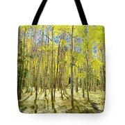 Vertical Aspen Forest Tote Bag