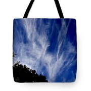 Vertical Clouds Tote Bag