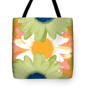 Vertical Daisy Collage II Tote Bag