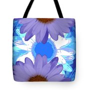 Vertical Daisy Collage Tote Bag
