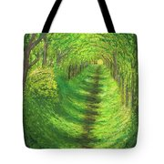 Vertical Tree Tunnel Tote Bag