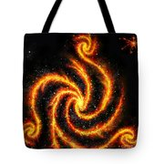 Very Big Red Gold Spiral Galaxy Tote Bag