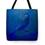 Very Blue Jay Tote Bag
