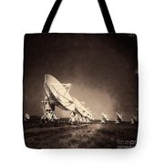 Very Large Array Sepia Tote Bag