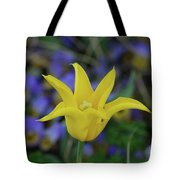Very Pretty Yellow Tulip With Spikey Petals Tote Bag