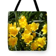 Very Sunny Yellow Flowers Tote Bag
