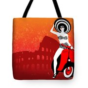 Vespa Girl Tote Bag
