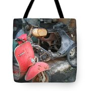 Vespa Scooter Tote Bag
