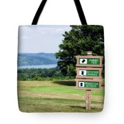 Vesper Hills Golf Club Tully New York 1st Tee Signage Tote Bag