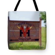 Vesper Hills Golf Club Tully New York Signage Tote Bag